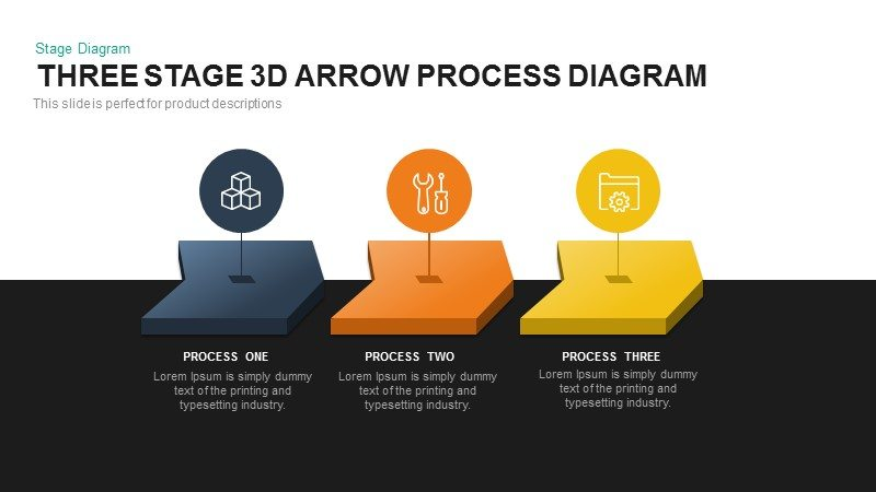 3d Arrow Process Diagram PowerPoint Template