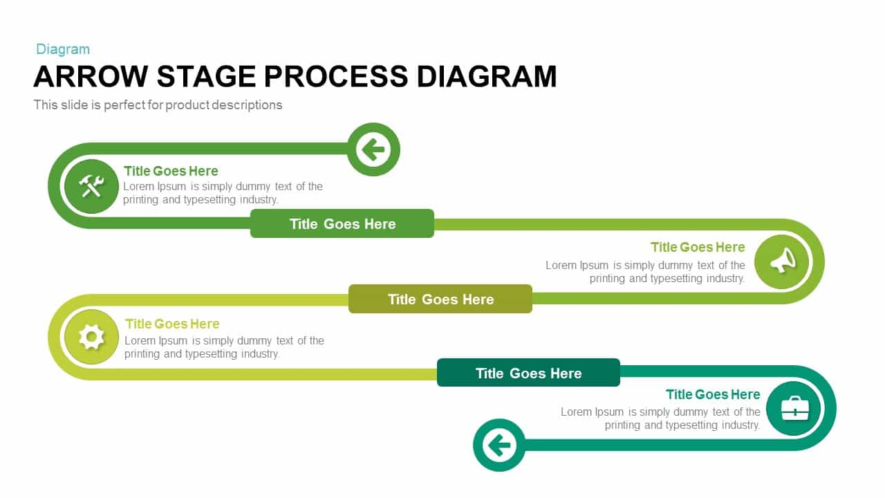 Arrow Stage Process Diagram PowerPoint Template