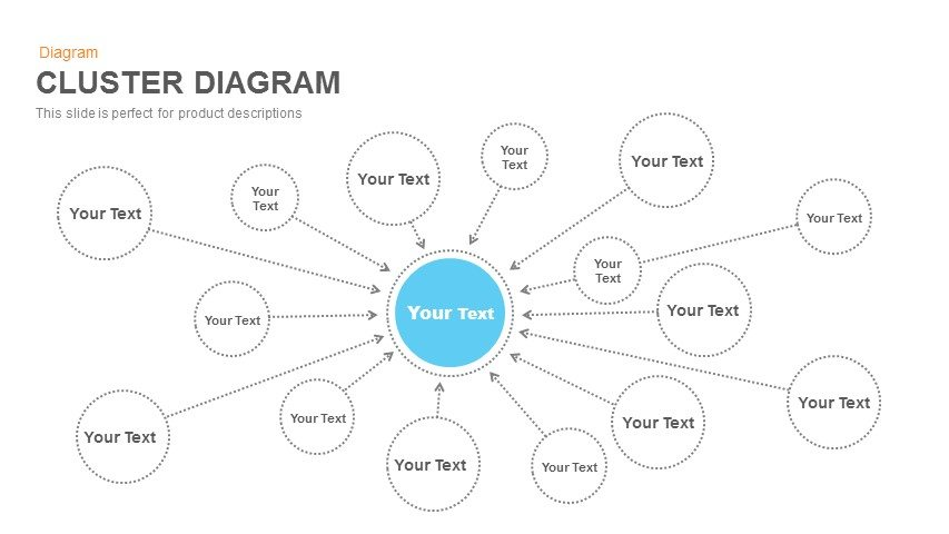 Cluster Diagram Template for PowerPoint and Keynote