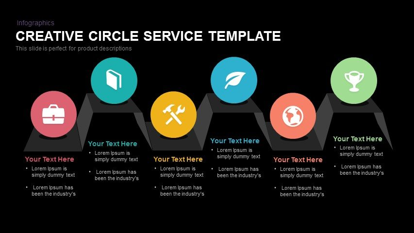 Creative Circle Service Powerpoint and Keynote template