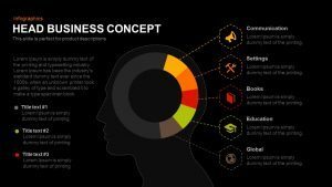 Head Business Concept PowerPoint Template and Keynote