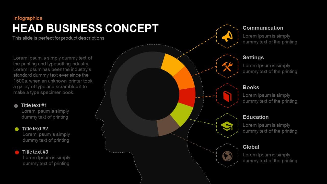 Head Business Concept PowerPoint Template