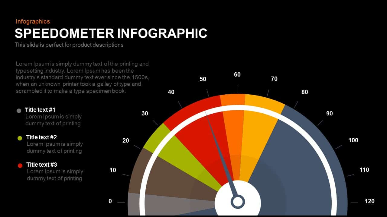 Infographic Speedometer PowerPoint Template