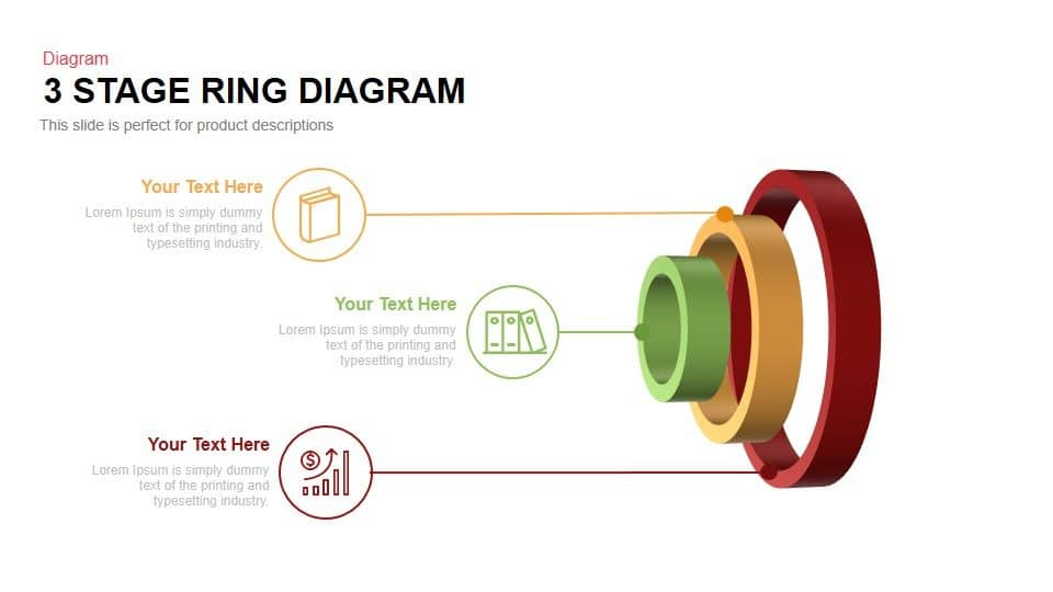 3 stage ring diagram PowerPoint template