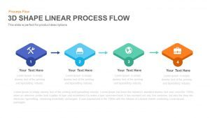 3D Shape Linear Process Flow Template for PowerPoint and Keynote