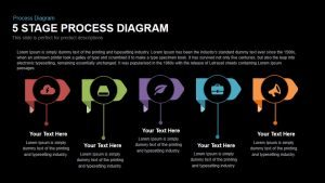 5 Stage Process Diagram PowerPoint Template and Keynote Slide