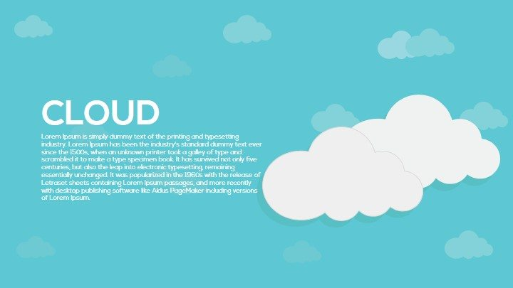 Cloud PowerPoint template and keynote