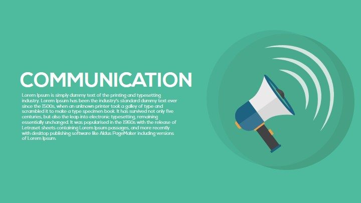 Communication PowerPoint Template and Metaphor Keynote Slide