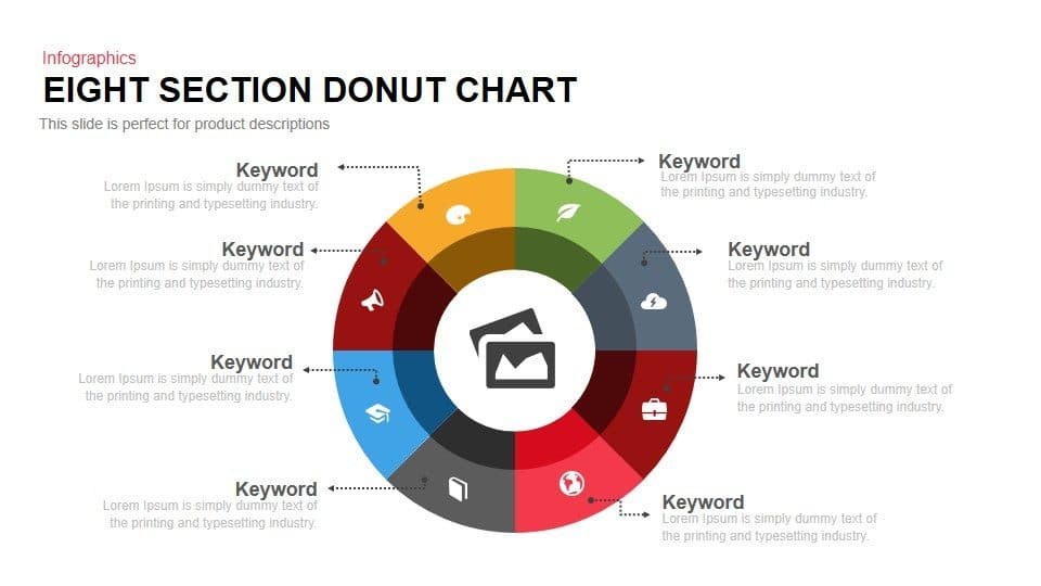 8 Section Donut Chart PowerPoint Template and Keynote