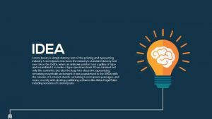 Metaphor Light Bulb Idea PowerPoint Template & Keynote Slide