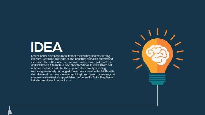 Light bulb idea PowerPoint template and keynote