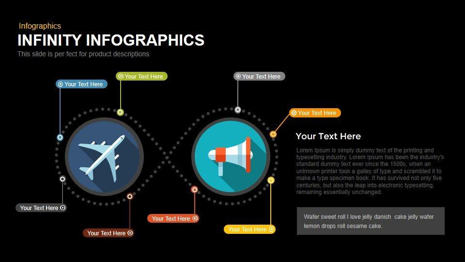 Infinity Infographics Powerpoint and Keynote template
