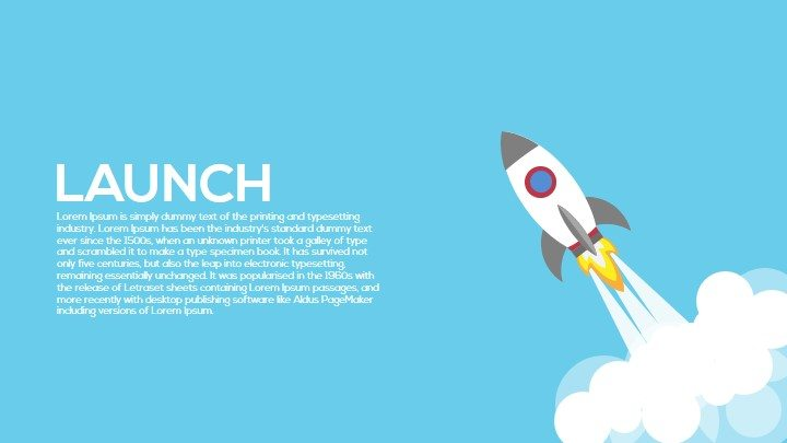 Metaphor launch PowerPoint template and keynote
