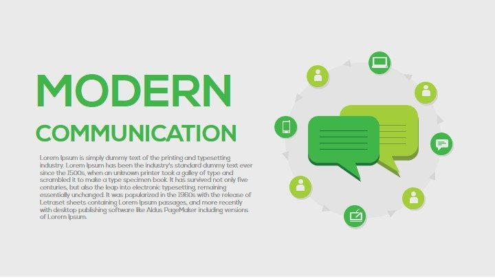 Modern Communication PowerPoint Template and Keynote Slide