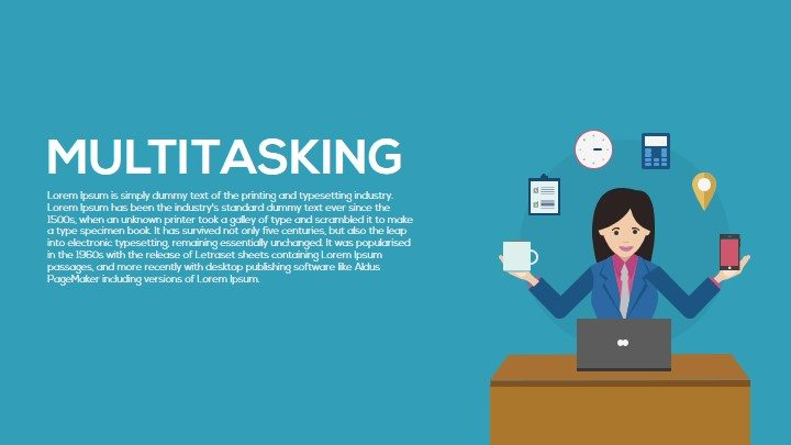 Multitasking PowerPoint Template and Keynote