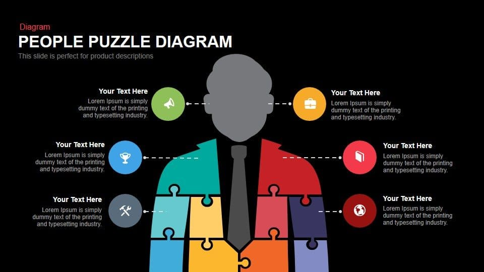 People puzzle diagram PowerPoint template
