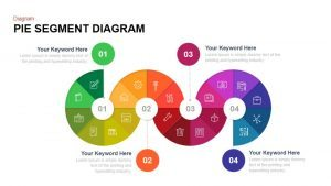 Pie Segment Diagram PowerPoint Template and Keynote Slide