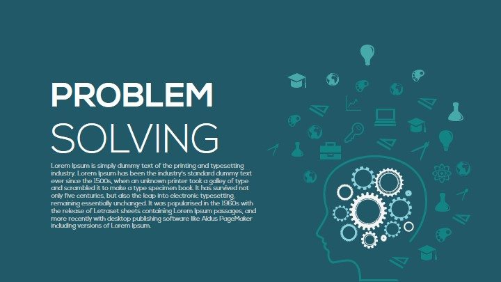 Metaphor Problem Solving PowerPoint Template
