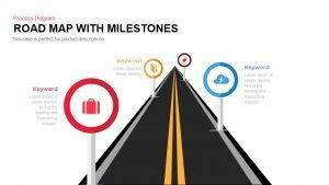 Roadmap with Milestones PowerPoint Template and Keynote Slide