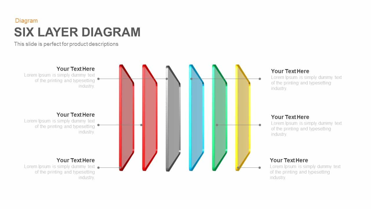 Six Layer Diagram PowerPoint Template