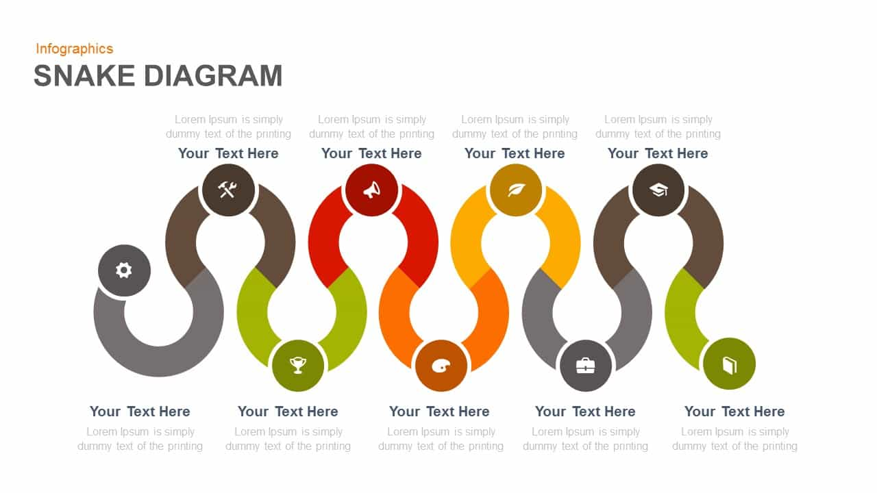 Snake Diagram PowerPoint Template and Keynote Template