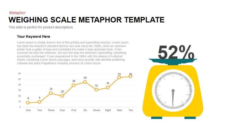 Weighing Scale Metaphor Powerpoint and Keynote Template