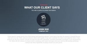What Our Client Says PowerPoint and Keynote Template