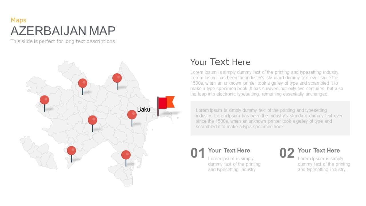 Azerbaijan Map Powerpoint and Keynote