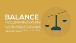 Balance Metaphor Powerpoint and Keynote template