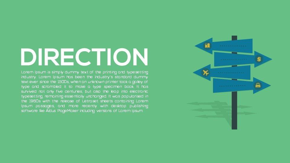Direction Metaphor Powerpoint and Keynote template
