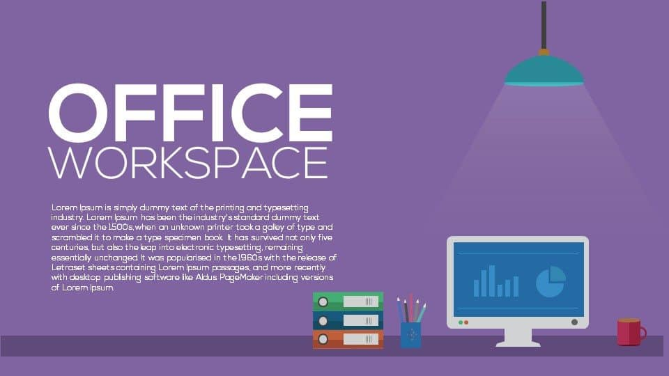 Metaphor Office Workspace PowerPoint Template and Keynote