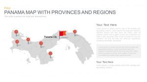 Panama Map With Provinces and Regions