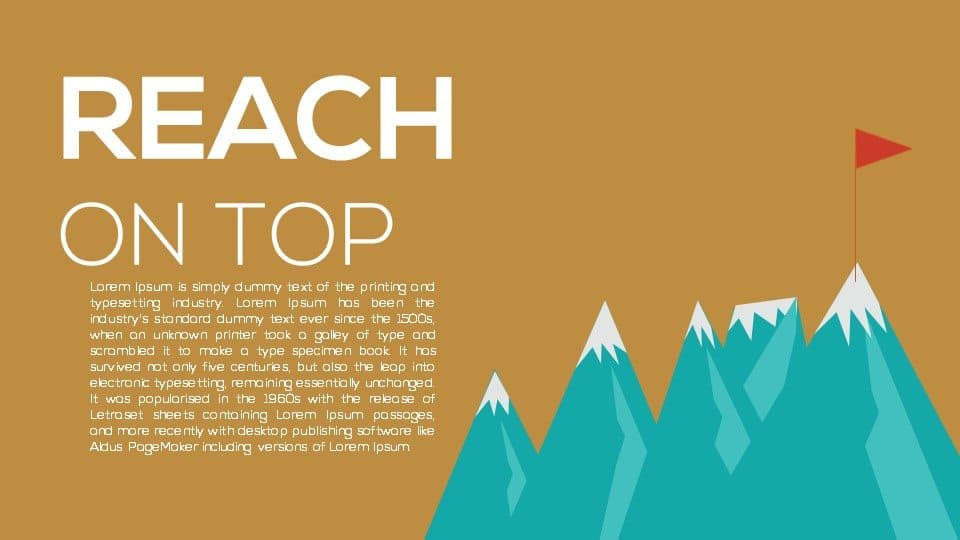 reach on top PowerPoint template and keynote