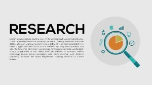 Research PowerPoint Template and Metaphor Keynote Template