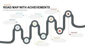 Road Map PowerPoint Template with Achievements