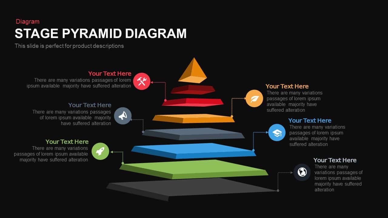 Stage Pyramid Diagram Powerpoint Template And Keynote Slide