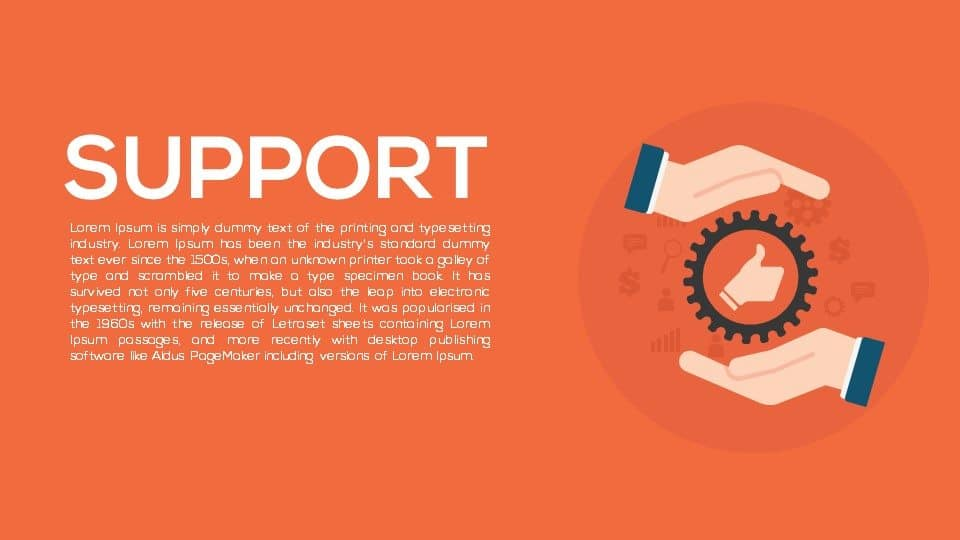 support PowerPoint template and keynote