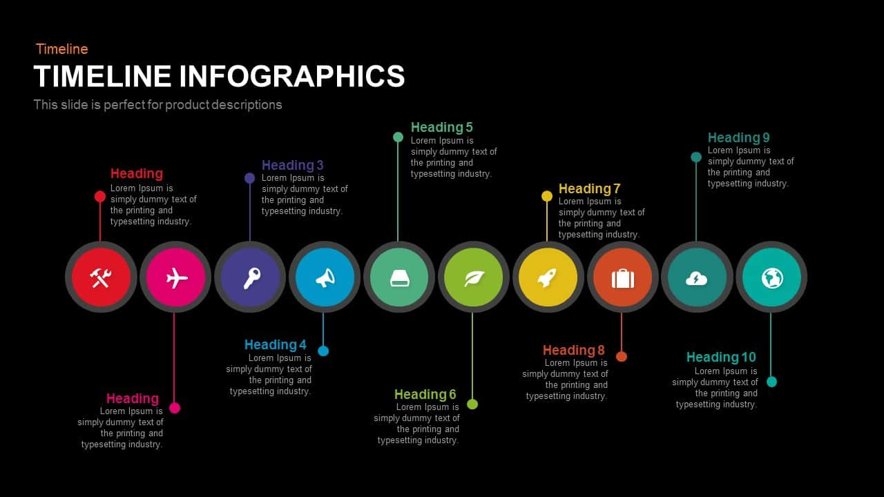 Timeline Infographics Powerpoint and Keynote template