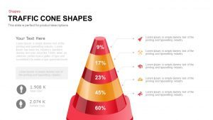 Traffic Cone Shapes Template for PowerPoint and Keynote
