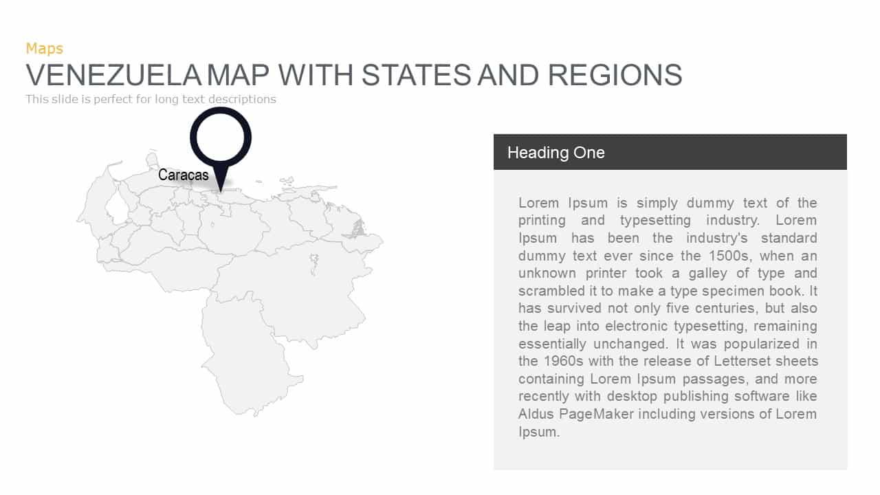 Venezuela Map Powerpoint and Keynote template
