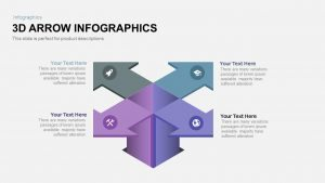 3D Infographics Arrow PowerPoint Template and Keynote Slide