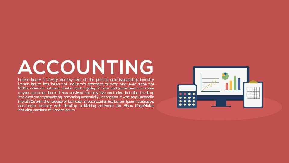 accounting PowerPoint template and keynote