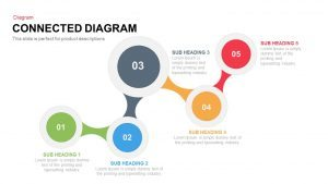 Connected Diagram PowerPoint Template and Keynote