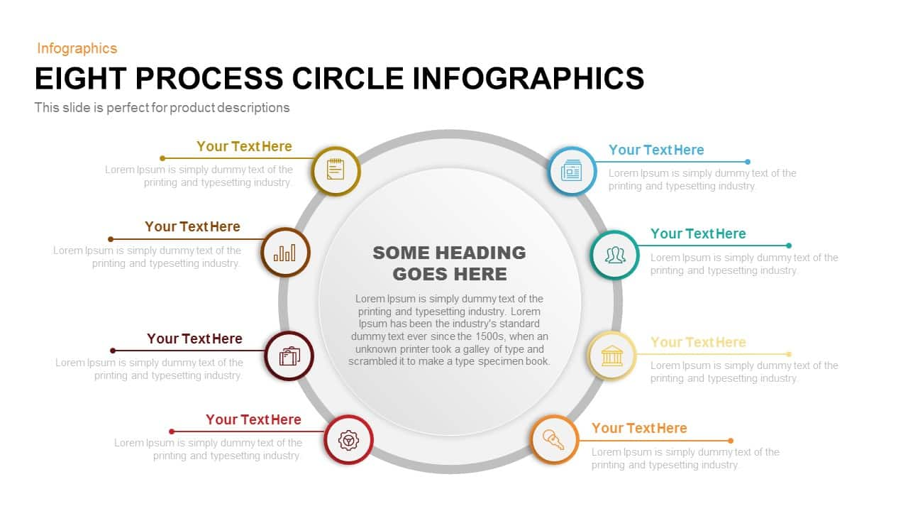 8 Process Circle Infographics PowerPoint Template