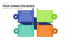 4 Connected Box PowerPoint Template and Keynote Diagram