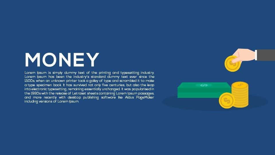 money PowerPoint template and Keynote