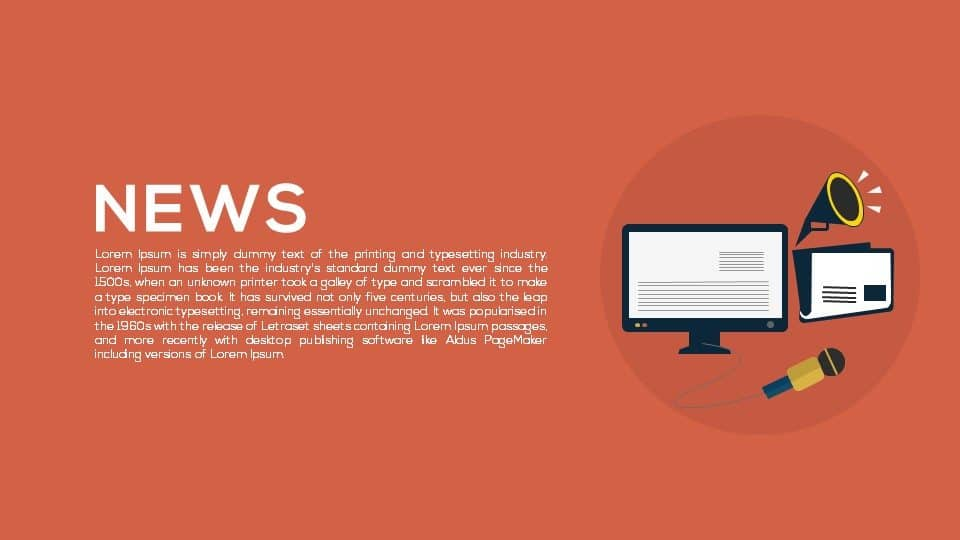 News Template For Powerpoint And Keynote Presentation