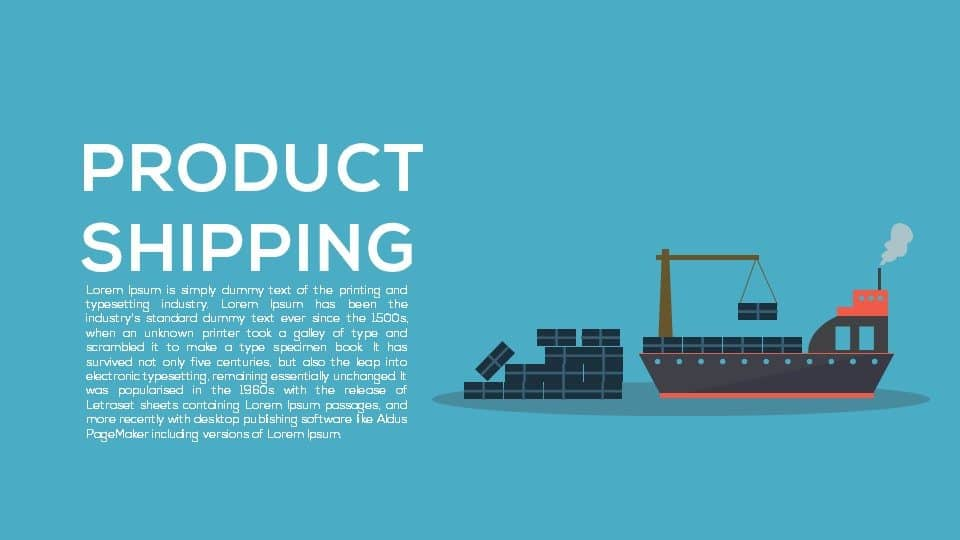 Product Shipping PowerPoint Template