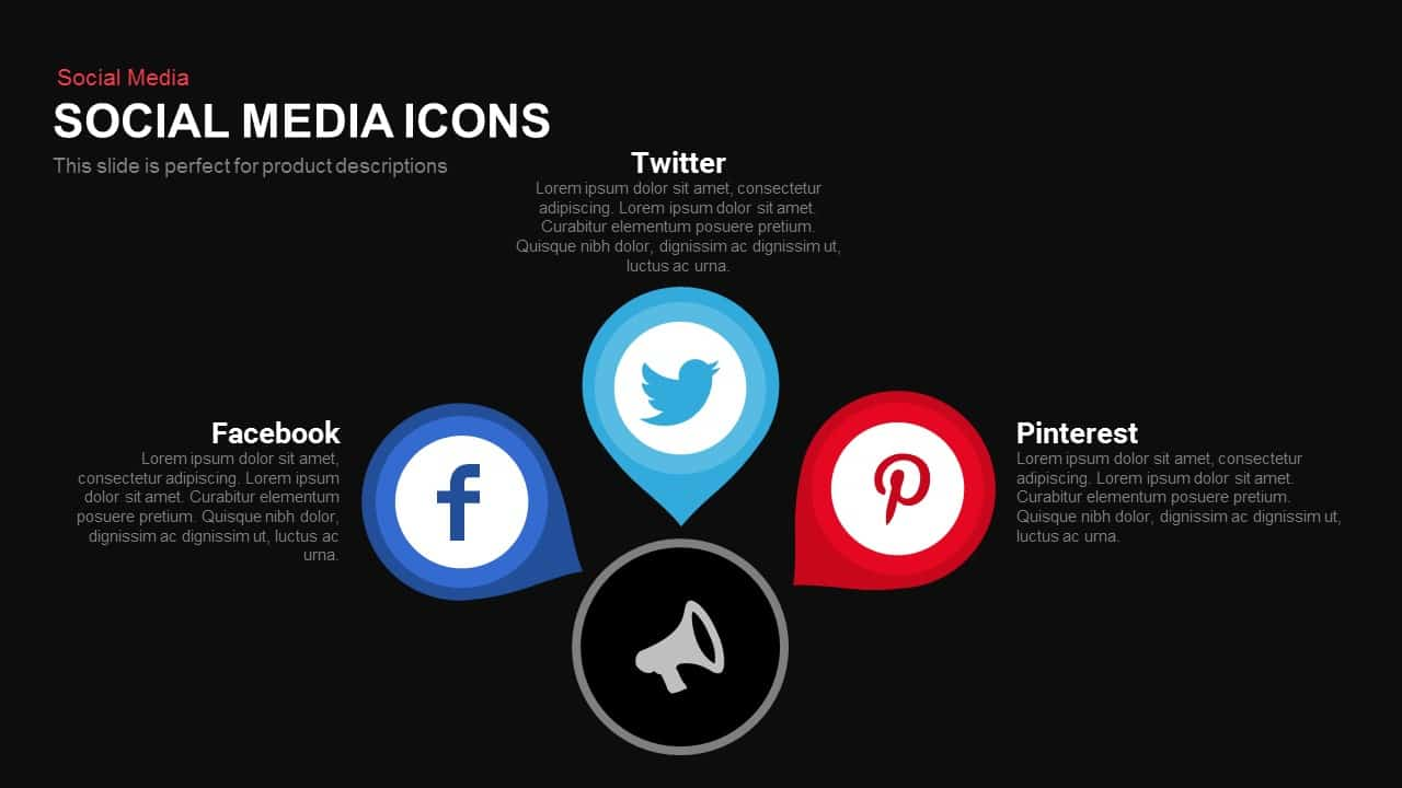 Social media icons PowerPoint template and keynote