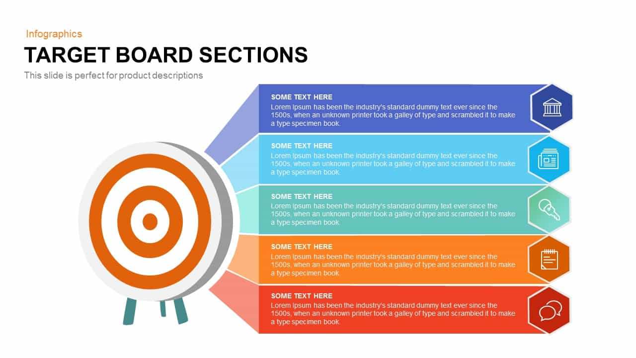 Target Board Sections PowerPoint Template